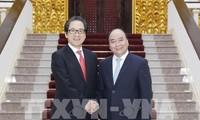 Premierminister Nguyen Xuan Phuc trifft JETRO-Vorsitzenden Hiroyuki Ishige