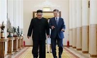 Südkoreas Präsident ruft zu Stopp der 70-jährigen Feindschaft zwischen beiden Koreastaaten auf