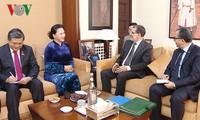 Parlamentspräsidentin Nguyen Thi Kim Ngan trifft Premierminister Marokkos Saadeddine Othmani