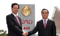 Rakyat Laos bergembira atas suksesnya pekerjaan penancapan tonggak perbatasan