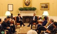 Pembicaraan tingkat tinggi menegakkan hubungan Kemitraan komprehensif Vietnam-Amerika Serikat