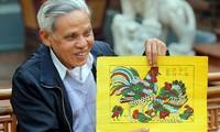 Membuat dokumen tentang kerajinan lukisan rakyat Dong Ho untuk disampaikan kepada UNESCO