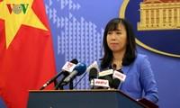 """Reaksi Viet Nam terhadap aktivitas-aktivitas yang dilakukan Tiongkok baru-baru ini sehubungan dengan peringatan ultah ke-6 apa yang dinamakan sebagai """"Kota Sansha"""""""