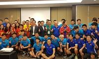 Kedutaan Besar Viet Nam di Indonesia menyemangati skuat sepak bola Viet Nam