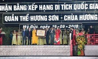 Acara penerimaan Piagam Situs peninggalan sejarah istimewa nasional Kompleks Huong Son