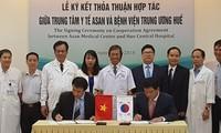 Rumah Sakit Pusat Hue bekerjasama dengan Pusat Kesehatan ASAN dalam melaksanakan program pencangkokan hati