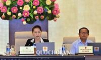 Ketua MN Viet Nam, Nguyen Thi Kim Ngan menyampaikan Pemaparan tentang rencana personalia kepada MN untuk memilih Presiden Negara