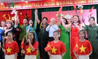 Sekjen KS PKV, Presiden Viet Nam, Nguyen Phu Trong menghadiri Hari pesta persatuan besar seluruh bangsa di Kota Ha Noi