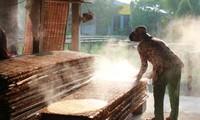 """Kerajinan memasak """"hu tieu"""" di pasar terapung Cai Rang"""