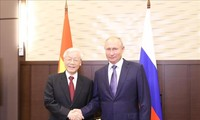 Генсек ЦК КПВ Нгуен Фу Чонг провёл переговоры с президентом РФ Владимиром Путиным
