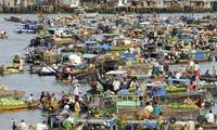 Плавучие рынки на юго-западе Вьетнама