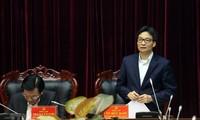 Вице-премьер Ву Дык Дам провел рабочую встречу с руководителями провинции Диенбиен