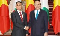 Премьер-министр Вьетнама встретился с президентом Мьянмы