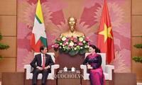 Председатель НС СРВ встретилась с президентом Мьянмы