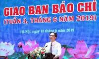 Встреча с журналистами по случаю 94-й годовщины Дня вьетнамской революционной прессы
