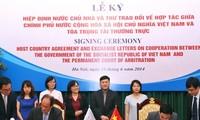Lễ ký Hiệp định và Thư trao đổi giữa Việt Nam với Tòa trọng tài thường trực La Haye