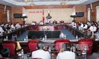 Phó Chủ tịch Quốc hội Uông Chu Lưu tiếp Đoàn đại biểu doanh nhân Việt Nam tiêu biểu