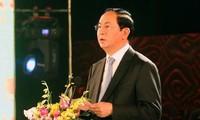 Chủ tịch nước Trần Đại Quang dự lễ khai mạc Ngày Văn hóa các dân tộc Việt Nam