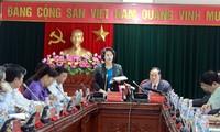 Chủ tịch Quốc hội Nguyễn Thị Kim Ngân giám sát việc chuẩn bị bầu cử tại tỉnh Hải Dương