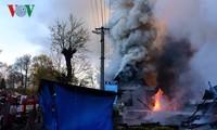 Cháy lớn ở chợ của người Việt tại biên giới Séc – Đức