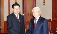 Tổng Bí thư Nguyễn Phú Trọng tiếp Thủ tướng Lào Thongloun Sisoulith