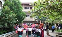 Lễ khai giảng năm học mới tại Trường song ngữ Lào-Việt Nguyễn Du