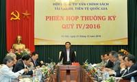 Phó Thủ tướng Vương Đình Huệ chủ trì họp Hội đồng tư vấn chính sách tài chính, tiền tệ quốc gia