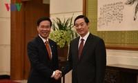 Ông Võ Văn Thưởng tiếp Trưởng Ban Tuyên truyền Trung ương Đảng Cộng sản Trung Quốc