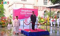 Lễ thượng cờ nhân dịp Quốc khánh Cộng hòa Indonesia