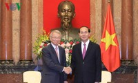 Chủ tịch nước Trần Đại Quang tiếp Chánh án Tòa án tối cao Hàn Quốc
