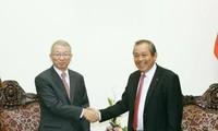 Phó Thủ tướng Trương Hòa Bình tiếp Chánh án Tòa án tối cao Hàn Quốc