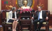 Bí thư Thành uỷ TP Hồ Chí Minh Nguyễn Thiện Nhân tiếp Đại sứ Hà Lan tại Việt Nam Nienke Trooster