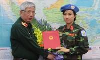 Việt Nam cử nữ sỹ quan đầu tiên tham gia lực lượng gìn giữ hòa bình Liên hợp quốc
