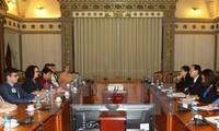 Lãnh đạo Thành phố Hồ Chí Minh tiếp đoàn đại biểu Hội đồng giao lưu chính trị Australia