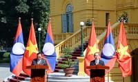 Tổng Bí thư, Chủ tịch nước Lào Bounnhang Vorachith kết thúc chuyến thăm hữu nghị chính thức Việt Nam