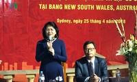 Phó Chủ tịch nước Đặng Thị Ngọc Thịnh thăm Tổng lãnh sự quán và gặp kiều bào tại Sydney, Australia