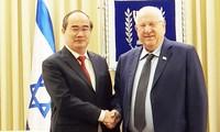 Bí thư Thành ủy Thành phố Hồ Chí Minh Nguyễn Thiện Nhân hội kiến Tổng thống Israel