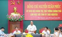 Thủ tướng Nguyễn Xuân Phúc làm việc lãnh đạo chủ chốt tỉnh Thái Nguyên