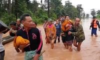 Tiếp tục công tác hỗ trợ nhân dân Lào khắc phục sự cố vỡ đập thủy điện