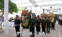 Lễ viếng và truy điệu hai phi công hy sinh khi bay huấn luyện tại Nghệ An