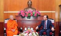 Việt Nam và Lào tăng cường hợp tác về phật giáo