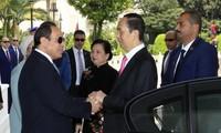 Tổng thống Abdel Fattah Al Sisi chủ trì lễ đón và Hội đàm với Chủ tịch nước Trần Đại Quang