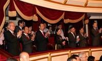 Chủ tịch nước Trần Đại Quang dự Chương trình hòa nhạc kỷ niệm 45 năm thiết lập quan hệ ngoại giao Việt Nam - Nhật Bản