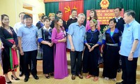 Thường trực Ban Bí thư Trần Quốc Vượng tiếp xúc cử tri tại huyện Mù Cang Chải, Yên Bái