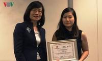 Nữ nghiên cứu sinh đạt giải nhất cuộc thi ý tưởng sáng tạo ở Australia