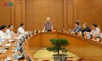 Tổng Bí thư, Chủ tịch nước Nguyễn Phú Trọng chủ trì họp Thường trực Tiểu ban Văn kiện Đại hội XIII