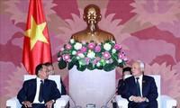 Phó Chủ tịch Quốc hội Uông Chu Lưu tiếp Bộ trưởng Bộ Tư pháp Lào