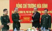 Phó Thủ tướng Thường trực Trương Hòa Bình thăm và chúc Tết cán bộ, chiến sỹ ngành tòa án, điều tra hình sự, kiểm sát quân sự