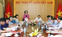 Trưởng ban Dân vận Trung ương Trương Thị Mai làm việc với Trung ương Mặt trận tổ quốc Việt Nam
