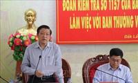 Đoàn kiểm tra của Ban Bí thư kiểm tra kết quả thực hiện nghị quyết Trung ương 4 khóa XII tại tỉnh Đắk Lăk